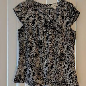 Loft Women's Short Sleeve Blouse, Size 12